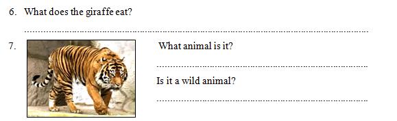 Contoh Soal UH 7 Bahasa Inggris Kelas 2 SD MI Tema Animal Semester 2