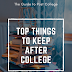 What to keep from college?