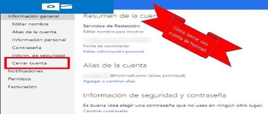 Cómo borrar una cuenta de Hotmail