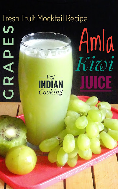 Grapes - Amla & Kiwi Fresh Fruit Juice