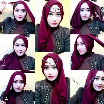 Contoh Tutorial Hijab Modern Terbaru Untuk Perayaan Lebaran Idul Adha