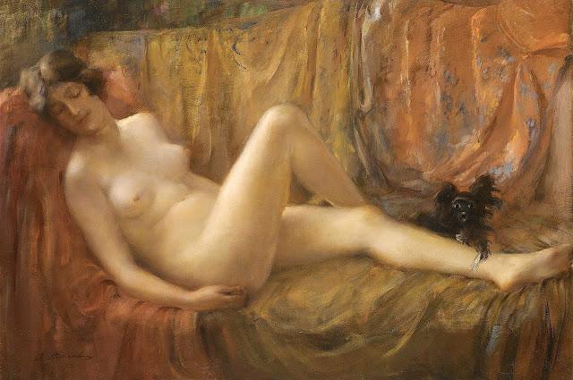 Vitaly Tikhov: Nudo con cane