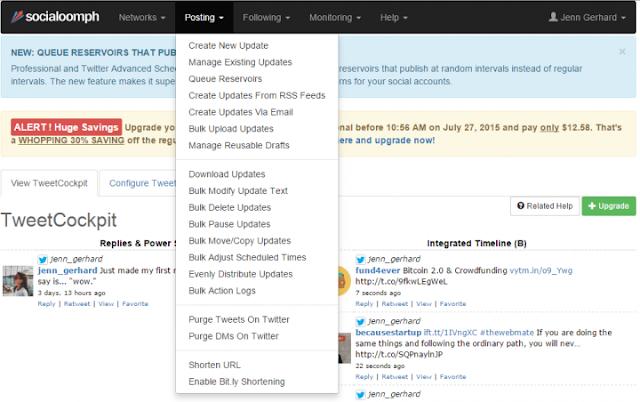 SocialOomph: Tools to Boost Your Social Media Productivity