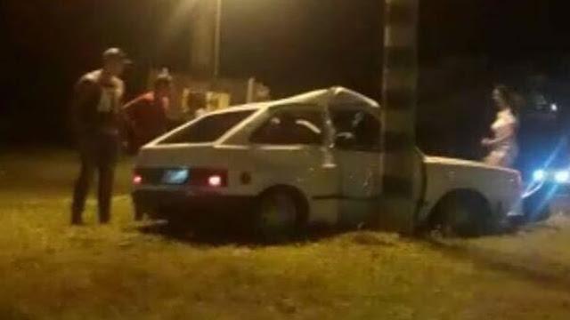 Motorista abandona veículo após casuar acidente em Andradas(MG)