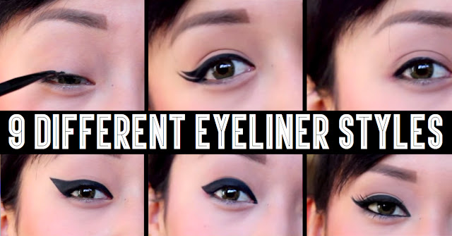 How to apply eyeliner  | 9 Different Eyeliner Looks