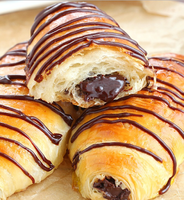 PAIN AU CHOCOLATE (CHOCOLATE CROISSANTS)  #dessert