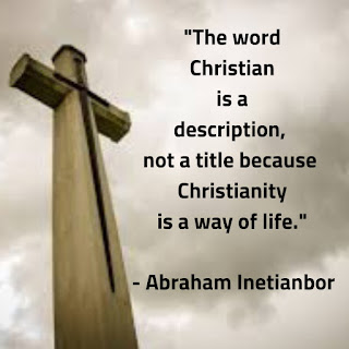 christianity is a way of life