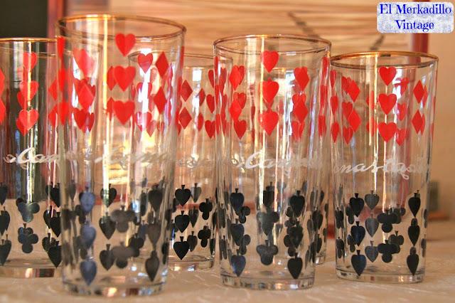 Juego de Vasos Vintage añso 60