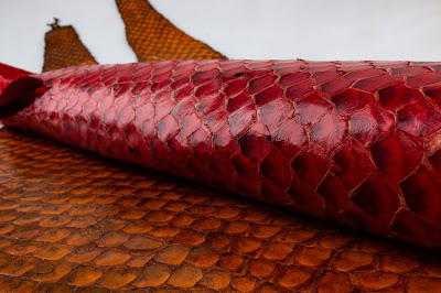 638d3ef68dc Pirarucu fish leather is HOT! | Sculptural Headwear for Earthlings ...