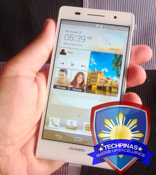 Huawei Ascend P6 Philippines, TechPinas Badge of Excellence