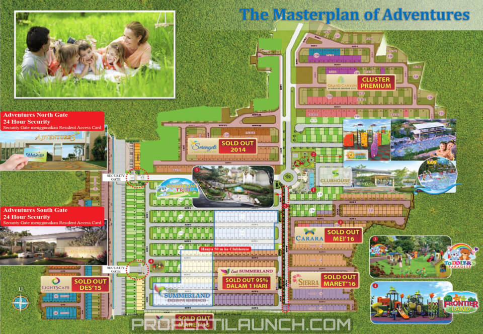 Master Plan Adventures Paradise Serpong City