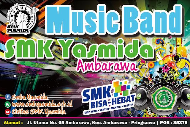 Desain Banner Panggung Ekskul Music SMK Yasmida