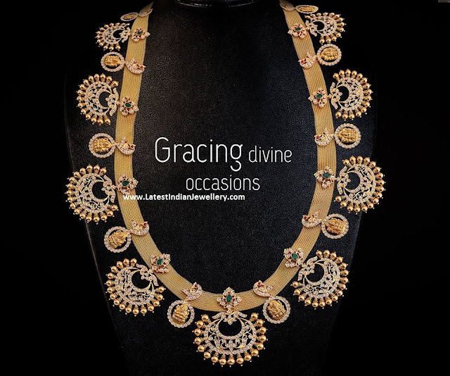 Chandbali Clasps Gold Mesh Necklace
