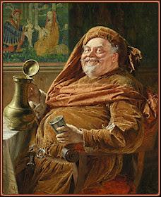 Falstaff con una jarra de vino, Grützner
