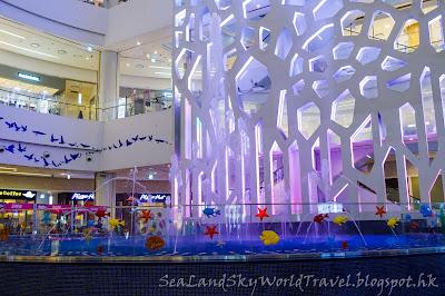 南韓釜山Lotte百貨噴水泉 Aquatique show