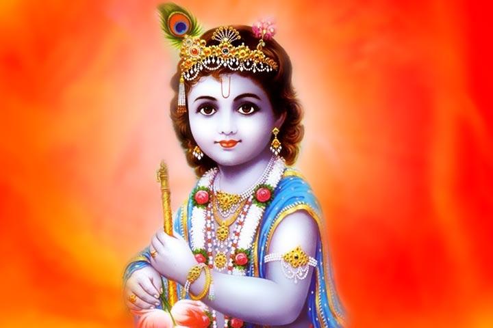 Beautiful Bal Krishna Image & Wallpaper