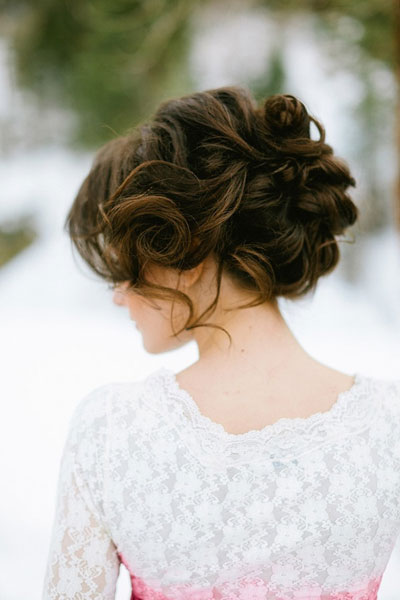 Awesome Winter Wedding Hairstyles 2014 Happy Wedding Moments Blog Short Hairstyles For Black Women Fulllsitofus