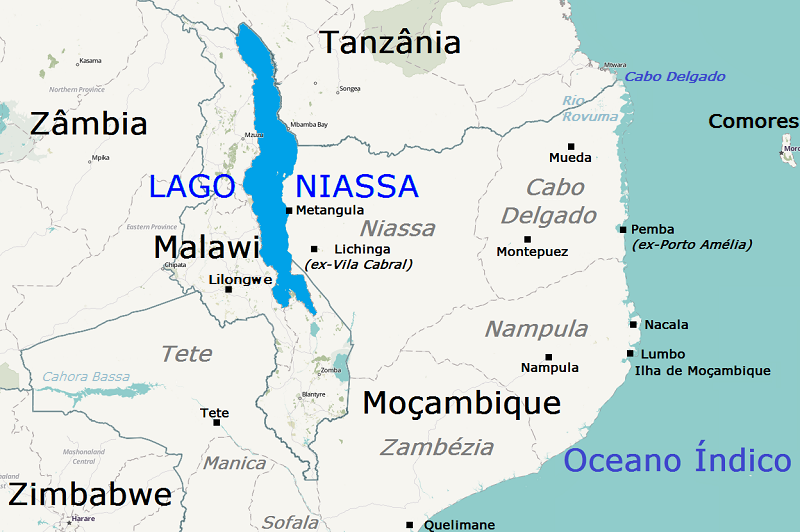 lago niassa mapa LAGO NIASSA   NÁUTICO lago niassa mapa