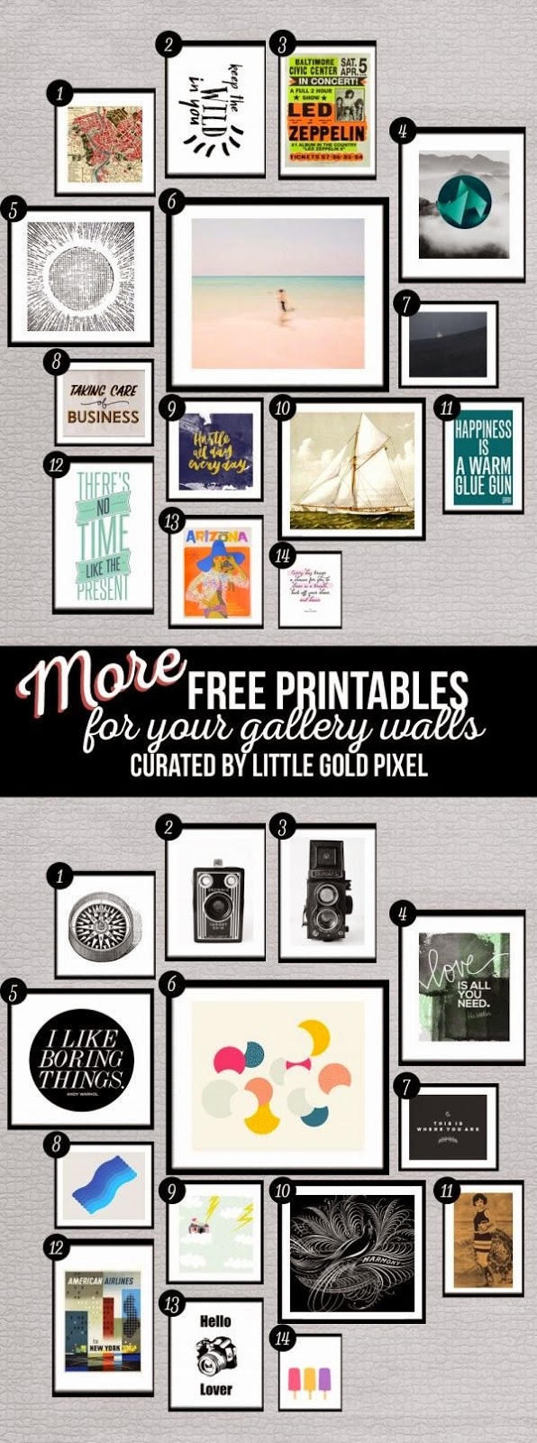 Free Printable Gallery Wall Art Curated By Little Gold Pixel
