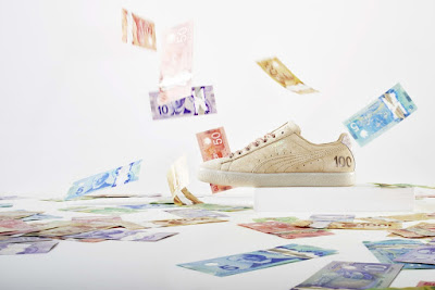 "bfdf89d8f ... sneaker from the ""Canadian Money"" pack retails for  130 CAD (about  100  USD) and is available at select PUMA retailers such as PUMA Lab and  Footaction."