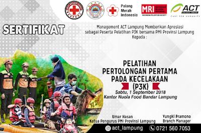 GASPOOL Rangkul ACT, MRI dan PMI Lampung Beri Pelatihan Pertolongan Pertama Bagi Ojek Online