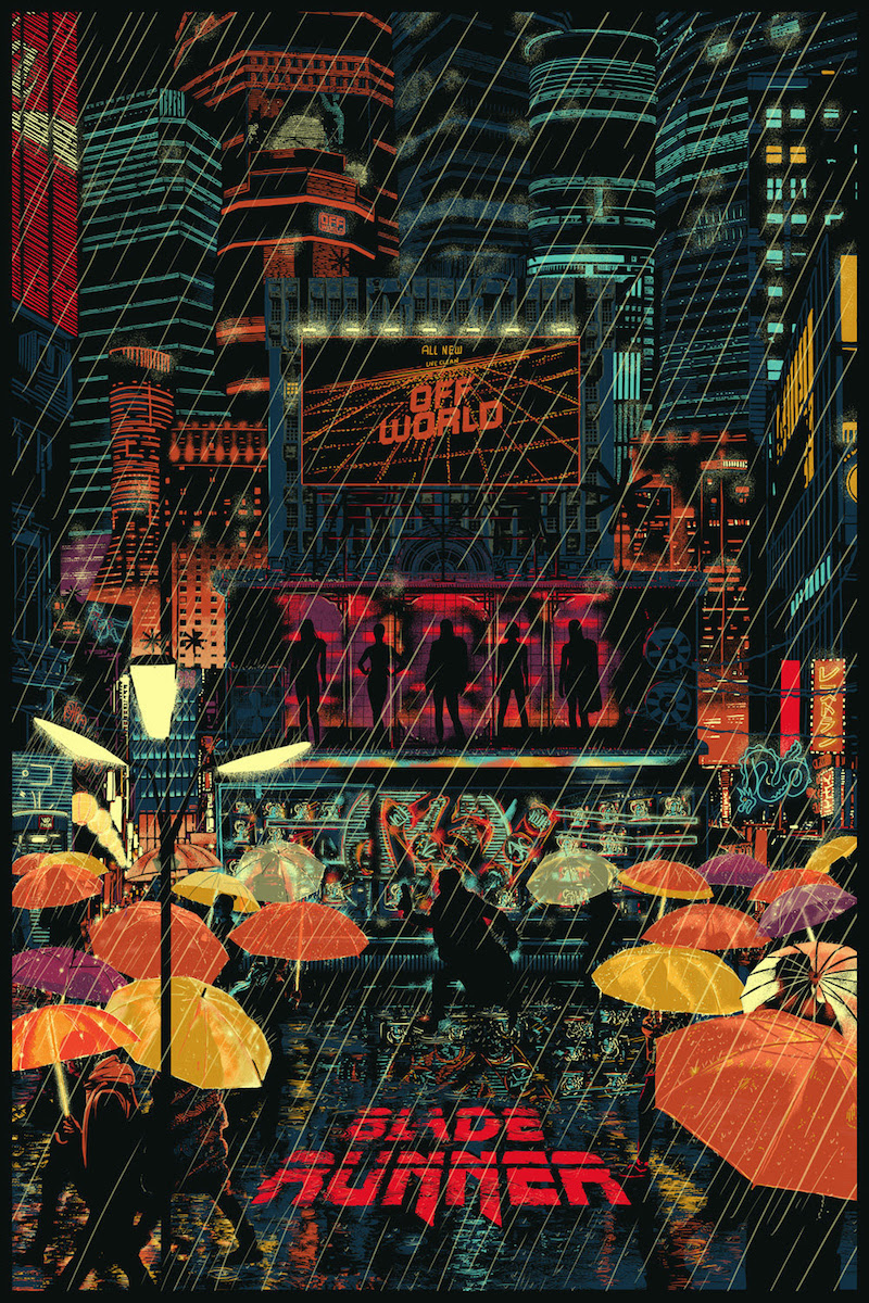 3ca8d7843 Blade Runner by Raid71 Sized 24 x 36 inches Screen print. Hand-numbered  edition of 250 @ US$50 each.
