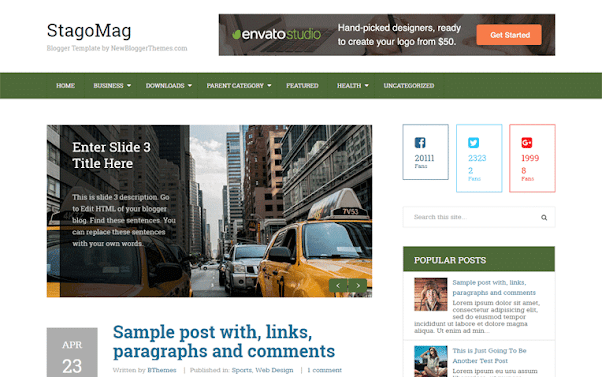 StagoMag Free Blogger Template