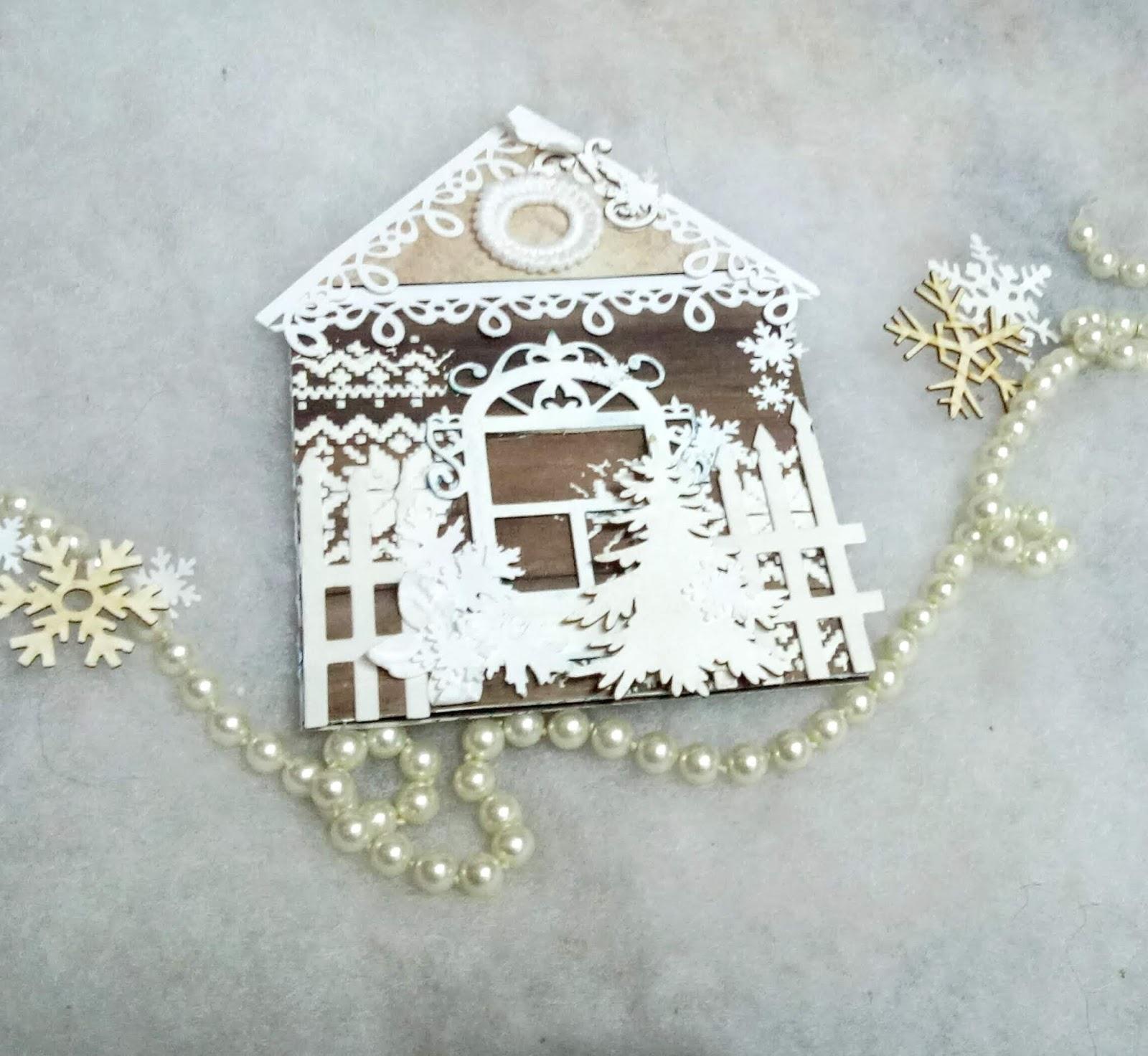 Открытка с пряничным домиком