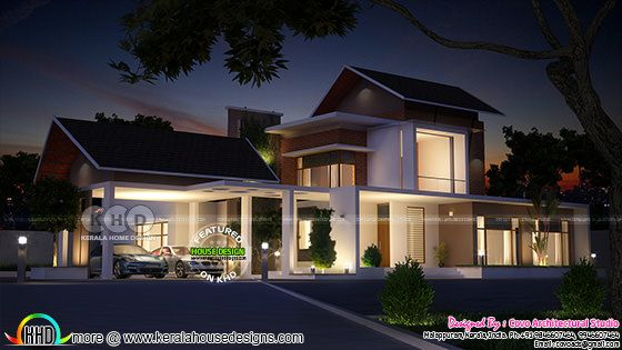 4 bedroom Fusion type home in Kerala