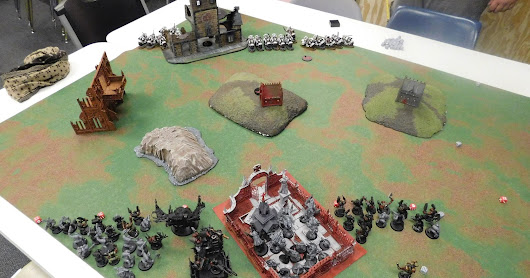 Battle Report; Orks vs Unknown Marine chapter (40K)