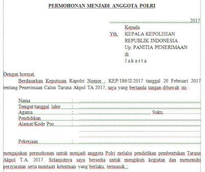 Persyaratan Pendaftaran AKPOL 2017