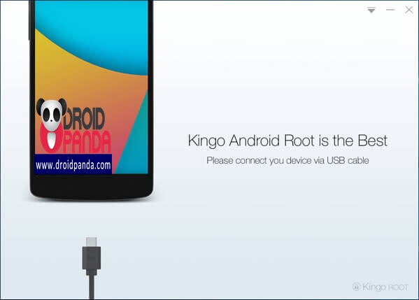 Launch Android ROOT and connect GALAXY S4 to computer