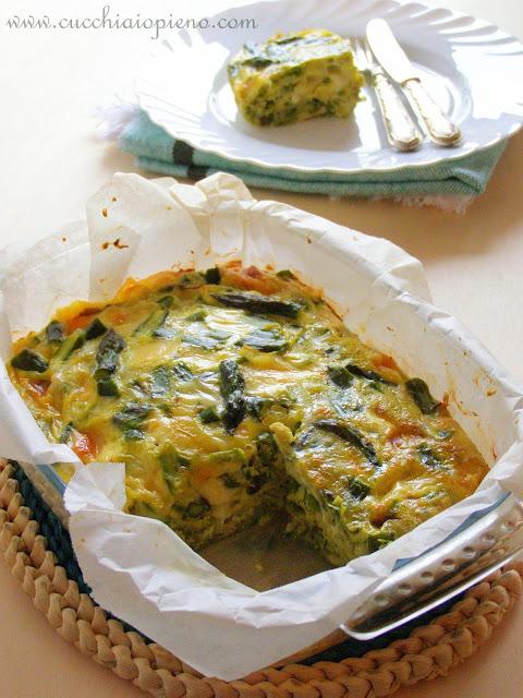 Delicioso omelete ao forno