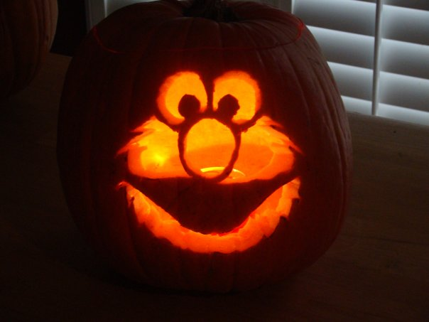 Pumpkin carvings writer madeline barr for Elmo pumpkin template