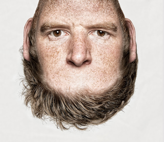 Kunst : Thorsten Schmidtkords ' Heads on Top ' | Creepy Foto Manipulation ( 4 Bilder )