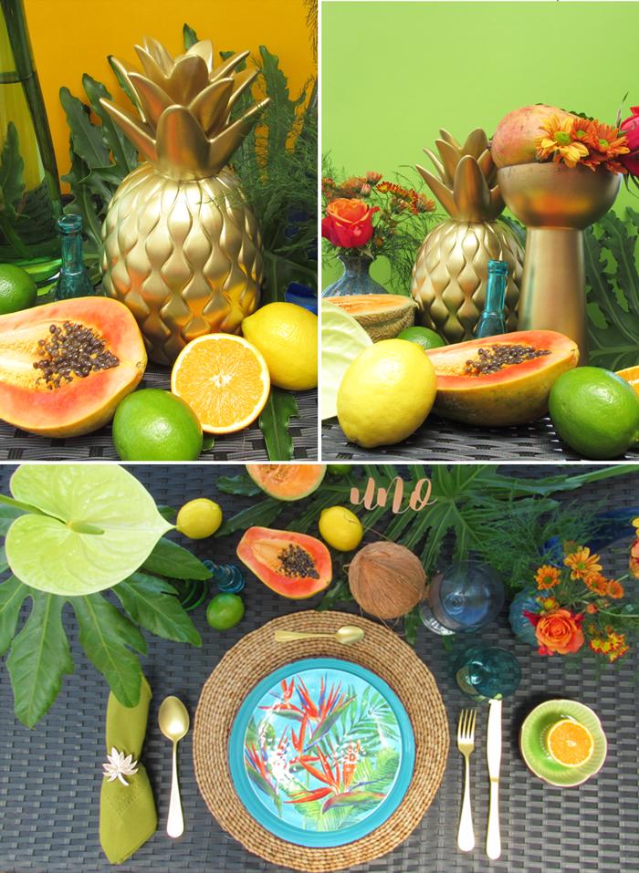 Valentina Vaguada: tropical, table setting, event planner, ideas, tropics, caribbean
