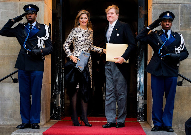 King Willem Alexander of the Netherlands, Queen Maxima of the Netherlands and Princess Beatrix of The Netherlands attends for the New Year Reception