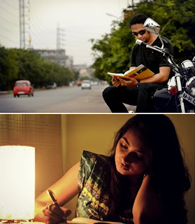 Jim Ankan Deka and Sharanya Sonu - stills from Xobdor Porisoy