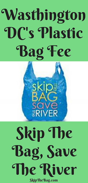 Washington, DC's plastic bag fee plus tips on how to minimize risk of food poisoning using a reusable bag.