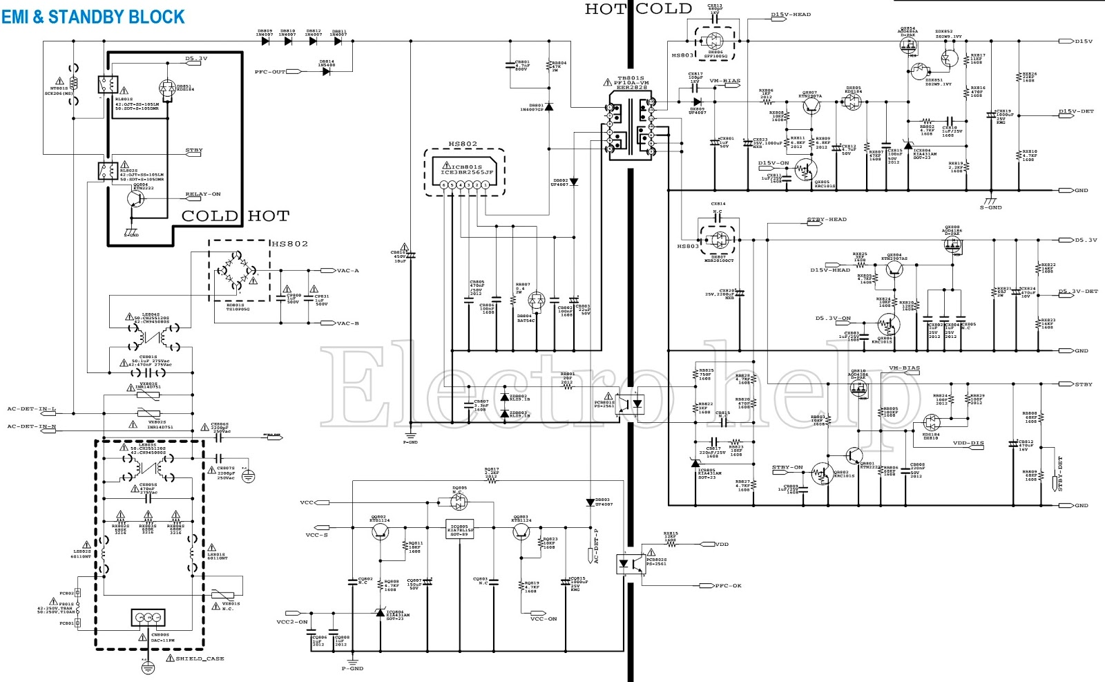 SAMSUNG BN44 00329A – LCD TV SMPS SCHEMATIC  42 inch and