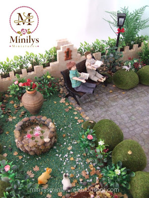 """minilys miniatures"" ""garden"" ""pets"" 1:12 estanque"