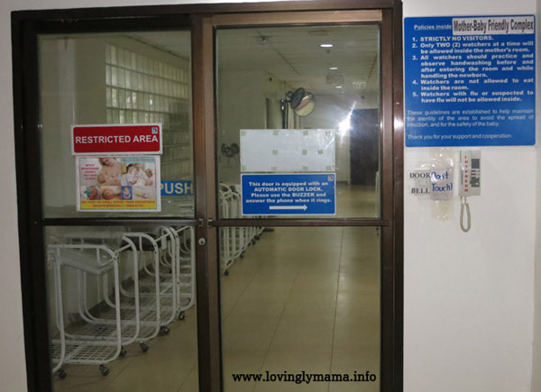 Riverside Hospital baby friendly complex - rooming in - Bacolod hospital