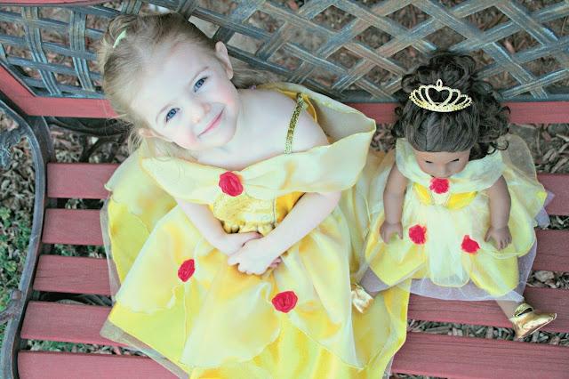 Belle Dress Up dress, Beauty and the Beast dress up dress for dolls, beauty and the beast dress up dress, belle dress up dress for dolls, Great Pretenders, #BeautyandtheBeast,