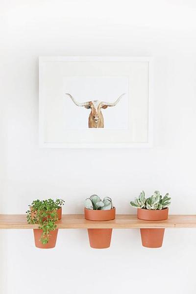 étagère DIY pots plantes design scandinave