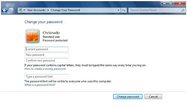 Cara Mengganti Password Komputer di Windows 7