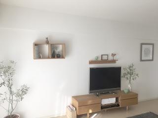「壁に付けられる家具」設置後