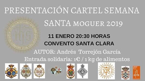 Presentación del cartel de la Semana Santa de Moguer 2019