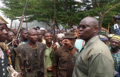 How Gov. Fayose Inaugurates Ekiti Grazing Enforcement Marshalls
