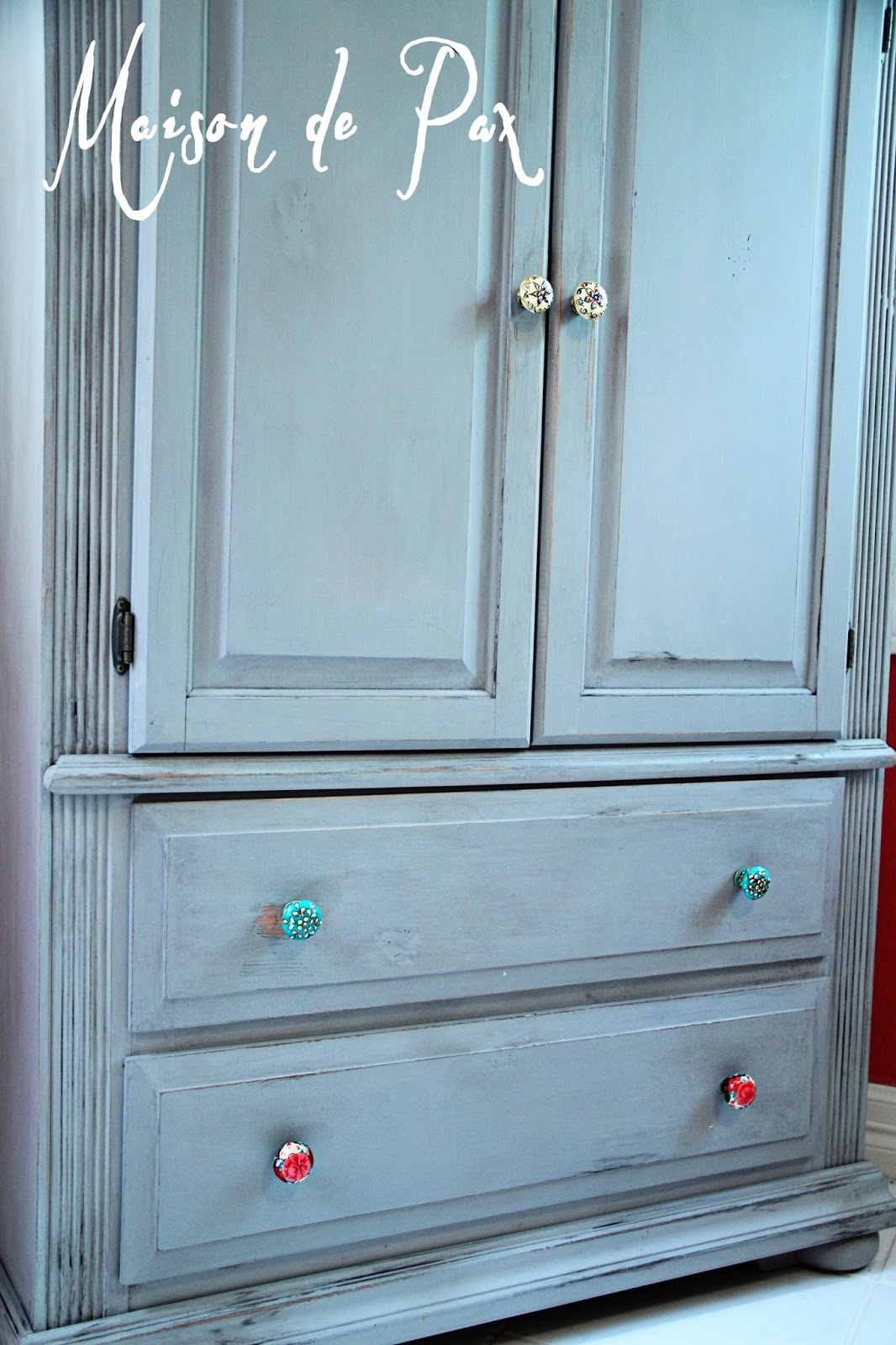 Gray Toy Storage Armoire Makeover Maison De Pax
