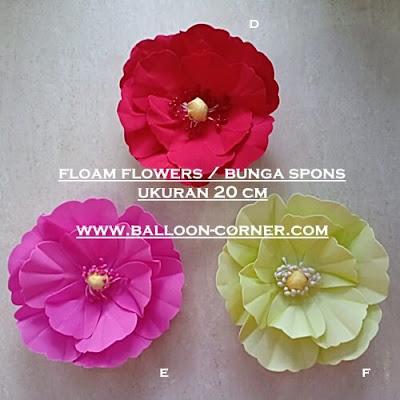 Foam Flowers / Bunga Spons Ukuran 20 Cm